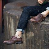 Договорная мужская коричневый Lace Up платье обувь мужчин официального обувь