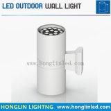 高い発電IP65屋外12W LEDの壁ライトをつける景色