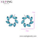 Высокое качество Xuping оптовой моды прямоугольник форма кристаллов Swarovski Earring с дугами безопасности