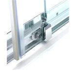 Painel de vidro temperado de boa qualidade porta corrediça com pega de alumínio