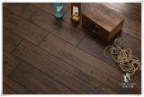 Suelos de madera maciza de roble oscuro, café, madera dura, Handscraped