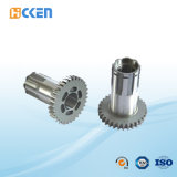 Части CNC алюминия и латуни высокой точности подвергая механической обработке повернули резьбу внутри соединения трубы