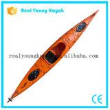 Kayak de canoë de mer de bateau de relais 4.2meter avec les panneaux de palette et le gouvernail de direction (M27)