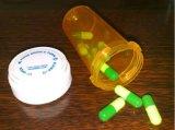 Plastikphiolen der droge-13dr mit umschaltbarer Schutzkappe