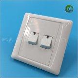 Blanco delgado del interruptor 2gang2way