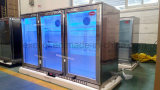 Die 3 Glas-Tür-halten grosse Kapazitäts-Bildschirmanzeige zurück Kühlvorrichtung/Edelstahl-Kühlraum/Bier ab