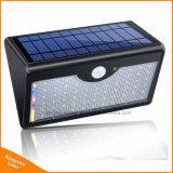 1300lm 60 LED lumière solaire pour le triage mural extérieur avec cinq modes