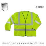 Светоотражающие безопасности куртка с длинной втулки