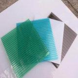 Hoja gemela antiniebla del policarbonato de la depresión de la pared para el material para techos