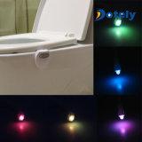 8 Lichter, die Fühler-anrechenbares Toiletten-Waschraum-Licht für Kinder ändern