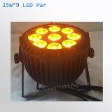 9*15W RGBWA 5in1 LED NENNWERT kann wasserdichtes beleuchten