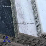 벽 훈장 클래딩을%s 백색 색깔 대리석 돌 벌집 위원회