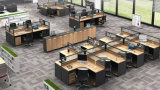 Escritório personalizado Worstation moderno com a estação de trabalho da mesa do centro de pilha da gaveta