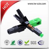 Le Sc de fibre optique de FTTH Sc/APC Sc/Upc jeûnent connecteur