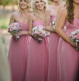 Простой Prom Группа мини платье A-Line шифон невесты вечерние платья Z212