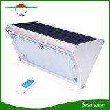 2017 Produits d'éclairage extérieur les plus récents Télécommande Energie solaire 56 LED Radar Motion Sensor Lumière de sécurité sans fil murale pour jardin, voie, jardin