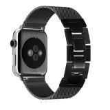 Black Milanese trança de relógio de aço inoxidável de Loop para Apple assistir