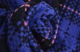 冬の暖かい点検された厚く編まれた編まれたショールのスカーフ(SP263)のような女性のアクリルの可逆カシミヤ織