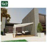 Ral9016 Patio cobrir com folha de policarbonato e telhado inclinado