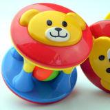 Пластичная милая игрушка трещоток плюшевого медвежонка для малышей имеет потеху