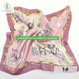 Madame Fashion Square Scarf de soie de 55*55cm 100% avec la peinture de parfum a estampé
