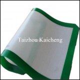 Couvre-tapis antiadhésif de traitement au four de silicones de fibre de verre d'anti glissade de catégorie comestible