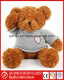 Brinquedo do urso da peluche de Brown do luxuoso com fita