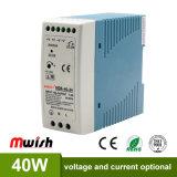 40W 24V CC Alimentation à commutation de rail DIN pour l'équipement industriel