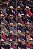 女性の綿は混合されたデザイン在庫の靴を起動する