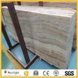 Jade de madera blanco recto del Onyx de la vena para el suelo, azulejos de la pared