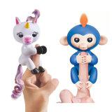 귀여운 핑거는 아이 선물로 대화식 아기 원숭이 핑거 원숭이 작은 물고기 Unicorn를