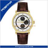 Relógio durável de quartzo do aço inoxidável das mãos luminosas super