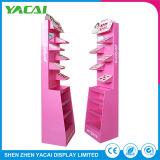 Papel reciclado Exhibition Stand para rack de cosméticos de pantalla para supermercados