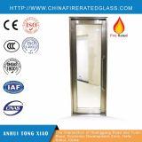 鉄骨フレーム+耐火性のガラスドア