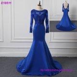 Langes Hülsen-Partei-Kleid-Blau plus Größen-Abend-Kleid
