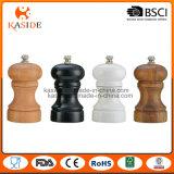 Molino de cerámica de madera de la sal y de pimienta de la base del acacia