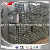 Seção oca de aço tubulação de aço galvanizada galvanizada