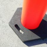 1100mmの交通安全のDelineatorのT上の警告のボラードのスタック可能Channelizerの円錐形のDelineatorのトラフィックの駐車円錐形