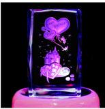 3D de Gravure van de Laser van de Kubus van het Glas van het kristal