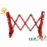Rouge Portable temporaire Multi-Gate barrière extensible en plastique de soufflage