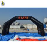 Evento al aire libre Inicio inflables y línea de meta, el Arco inflable gigante Gate para publicidad