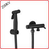 Couleur noir en acier inoxydable 304 Mesures sanitaires bidet avec adaptateur de tête de douche salle de bain Douche robinet Appuyez sur le bidet