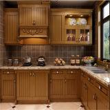 L-Vorm Klassieke Brown PVC keukenkast