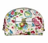 Sacchetti di trucco di bellezza delle donne dell'unità di elaborazione del reticolo di fiore di cuoio del Faux, sacchetti cosmetici con l'arco