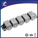 Aço inoxidável corrente de rolos com U Tipo Anexos (SS08B-U1)