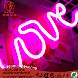 Segno al neon dell'indicatore luminoso a forma di di notte di amore del USB per la decorazione della camera da letto del bambino