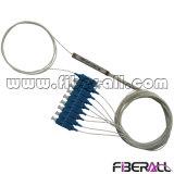 1X8 Epon Mini PLC Splitter con espiral de fibra óptica SC