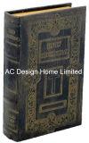 Bastante antiguo relieve Vintage de cuero de PU/almacenamiento de madera MDF cuadro Libro