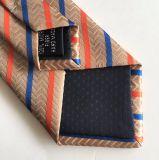 Gravatas tecidas Microfiber da listra da forma dos homens