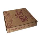 Сверху и снизу коробки пиццы гофрированный картон для упаковки